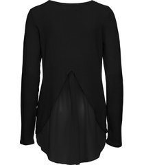 maglione con inserto (nero) - bodyflirt