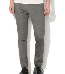 selected zachte grijze stretch pantalon