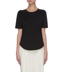 clinton' ruched sleeve knit t-shirt