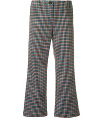 aalto flared cropped trousers - multicolour