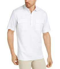 alfani men's popover linen shirt, created for macy's