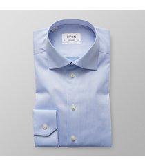 eton heren overhemd licht signature twill contemporary fit ml7