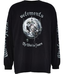 x the world motorhead graphic print sweatshirt