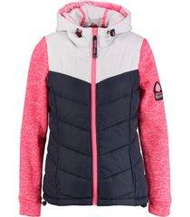 superdry storm hybrid jas vest met sweater mouwen