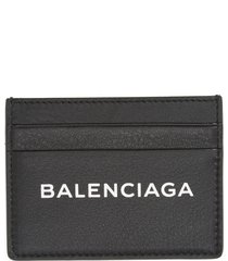 women's balenciaga logo leather card case -