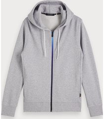 scotch & soda zip-through hoodie