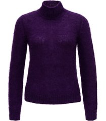 alberta ferretti high collar wool sweater