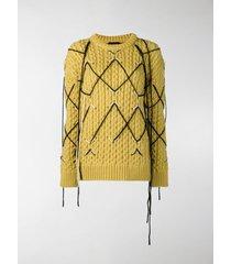 calvin klein 205w39nyc intarsia knit sweater