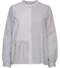 nubebe shirt blus långärmad grå nümph