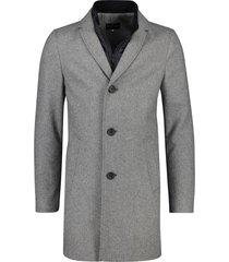 portofino jas grijs met uitneembare binnenkraag