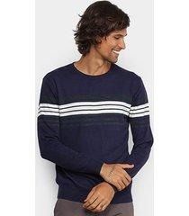 suéter watkins & krown listrado masculino