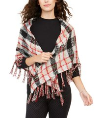 charter club classic plaid boucle triangle scarf, created for macy's