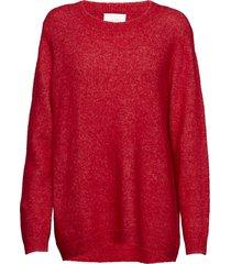 chiba knit gebreide trui rood just female