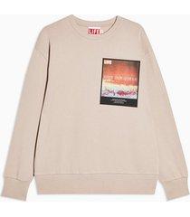 mens beige stone life ocean organic cotton sweatshirt