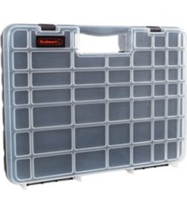 trademark global portable storage case with secure locks and 55 small bin compartments by stalwart