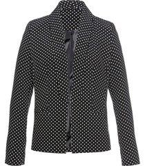 blazer con collo a revers slim fit (nero) - bpc selection