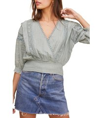 women's astr the label wanderer lace inset crop top