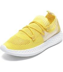 zapatilla amarillo new walk