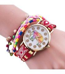 reloj rojo sasmon re-16105