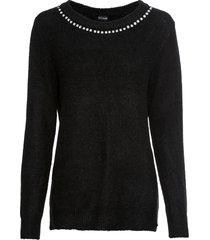 maglione con strass (nero) - bodyflirt