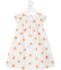 bonpoint cherry-print dress - white