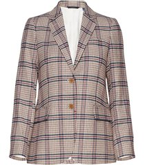 d1. washable str wool reg blazer blazer colbert multi/patroon gant