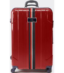 """tommy hilfiger women's 28"""" spinner suitcase deep red -"""