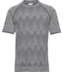hmlmorten seamless t-shirt s/s t-shirts short-sleeved grå hummel