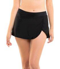 bikini short falda negro samia