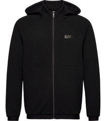 sweatshirt hoodie svart ea7