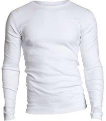 garage basis t-shirt ronde hals lange mouw semi bodyfit wit