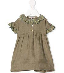 caramel sloane square ruffle-trim dress - green