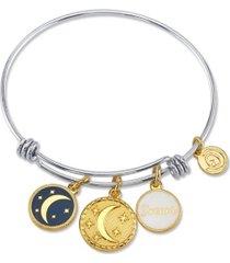"unwritten ""dream"" adjustable bangle bracelet in stainless steel"