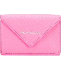 balenciaga papier mini wallet - pink