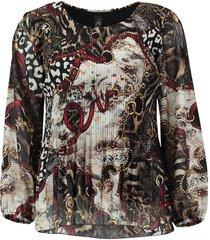 blouse plisse multi