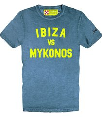 ibiza vs mykonos bluette mans t-shirt