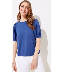 loft puff sleeve cropped statement tee