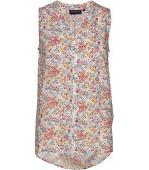eve printed top blouse mouwloos multi/patroon lexington clothing