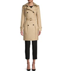 missy belted & hooded trench coat