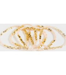 bella beaded bracelet set - blush