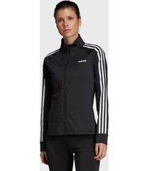 chaqueta adidas performance w d2m 3s tt negro - calce regular