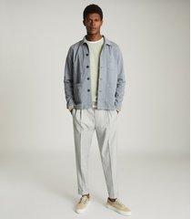 reiss conley - casual worker jacket in soft blue, mens, size xxl