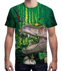 3d dinosaur printed short sleeve t-shirt