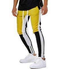 hem zipper colorblock track pants