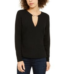 inc v-neck hardware top, created for macy's