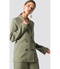 na-kd classic oversized double breasted blazer - green