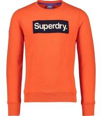 superdry sweater heren oranje