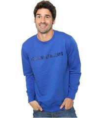 buzo azul calvin klein institutional logo sweatshirt