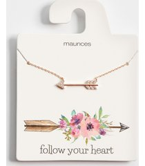 maurices womens dainty gold arrow pendant necklace