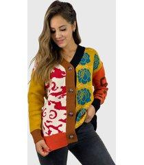 chaleco rosas hippie chic mostaza enigmática boutique
